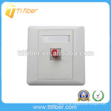 Hochwertige Single-Port-FC-Glasfaser-Faceplate / Wandplatte