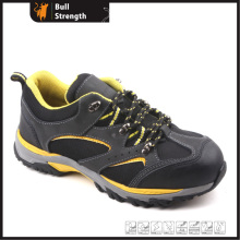Geniune Leather Safety Shoes with Steel Toe and Rubber Sole (SN5170)