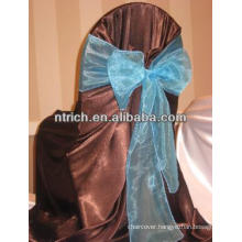 Organza bow chair decorated for wedding
