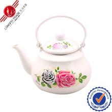 Rose Enamel Teapot with Bakelite Handle