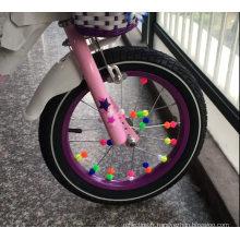 Clip en plastique de bicyclette perles rondes rayons de roue étoile