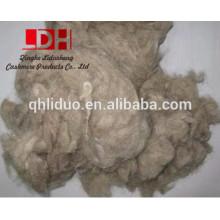Brown wool waste fiber