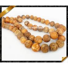 Perles de mode naturelles, Perles de pierre, pierres précieuses en pierres apparentes, bijoux en perles (GB0138)