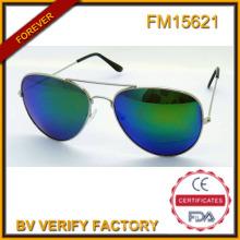 FM15621 Popular nuevo tipo promoción Metal gafas de sol con lentes Revo Blue