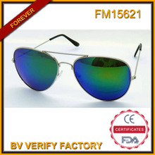 FM15621 Popular New Type Promotion Metal Sunglasses with Blue Revo Lens