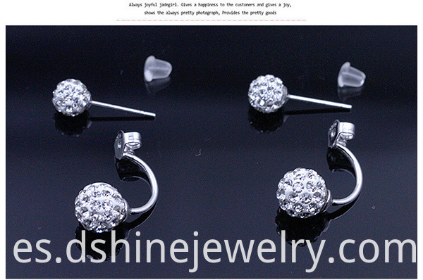Shamballa Stud Earrings for Women