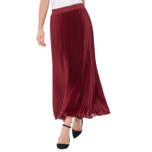 "Kate Kasin Mujer Vintage Retro Color Sólido Pleated Maxi Falda Larga 40 ""KK000614-1"