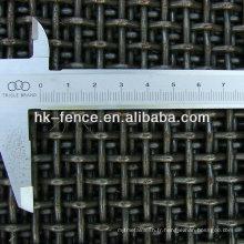 Type plat galvanisé plongé galvanisé chaud de treillis métallique / tissu vibrant d'écran