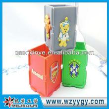 Custom soft pvc giveaway pen holder for team souvenir