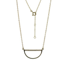 925 Серебряное ожерелье с улыбкой