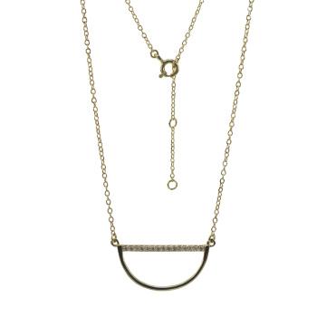 925 Silver Smile Pendant Necklace