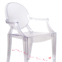 Crystal  Louise Ghost Chair with Arm