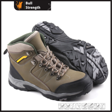 Industry Leather Safety Shoes with Cement Rubber Sole (SN5165)