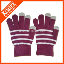 Unisex winter strip magic smart finger touch gloves