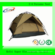 Economical Beige 190t Polyester Waterproof Family Tent for Travel