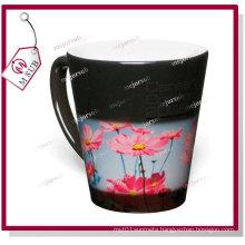 12oz Sublimation Black Color Magic Latte Mug