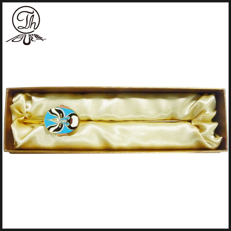 High quality mask design gold metal bookmark