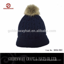 Navy Color Herren Warm Winter Hüte zu dekorieren
