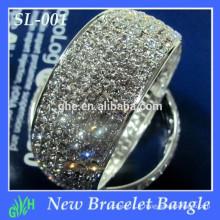 Yiwu Wholesale New Fashion Bangle, bracelet rhinestobraeceltne, bracelet argenté