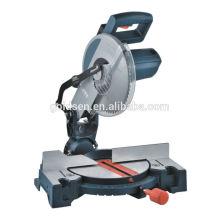Machine de scie à onglet composite composée de puissance de coupe de bois de sciage de 255 po 10 po 1900W à vente chaude Scie à découper en aluminium électrique portable
