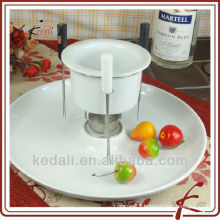 ceramic Cheese Fondue Pot with Lazy Susan