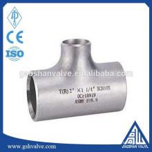 T de redução de aço inoxidável cf8 da ANSI B16.9
