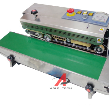 Plastic Bag Potato chips Puffed food Packing Mechanical Automatic Continuous Sealing Machine Band Sealer