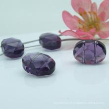 Grânulo de cristal de alta qualidade roxo a granel