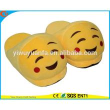 Hot Sell Novelty Design Shy Face Plush Emoji Slipper