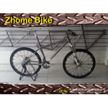 Cadre de vélo bicyclette pièces/titane et fourche/MTB vélo VTT 3al2.5V 6al4V Zh15TBB01
