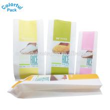 Diferentes tipos de logotipo personalizado impressão 5 kg 10 kg 25 kg 50 kg saco de embalagem de arroz para atacado