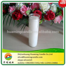 Religious Candle in Cup White Color 7 Days Burning Time-- -