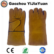 Cow Split Leather Industrial Labor Work Welding Gloves with En407