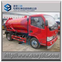 Camión de succión 4X2 camión de petrolero del vacío de 4000 L
