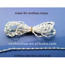 vertical blinds bead chain-4.5*12mm cord white plastic curtain chain