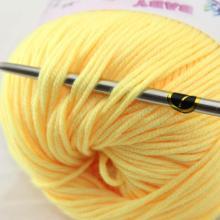 Worsted doux 5% cachemire 83% laine 12% tricot en soie