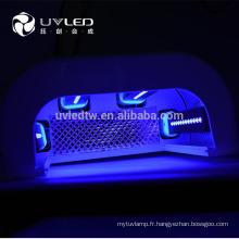 Nouveau 365nm + 410nm 9w LED Lampe UV pour Nail Art, cure rapide de toutes sortes de gel