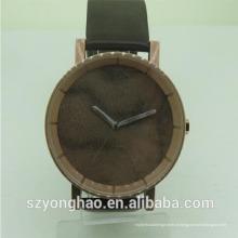 China fez japão movt pulseira de couro pulseira de relógio de luxo oem com o homem
