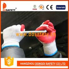 Guante de trabajo de seguridad de látex de punto 10 Guge Dkl313
