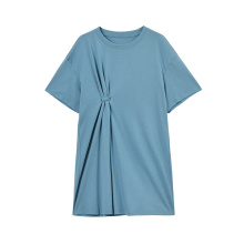 Robe t-shirt à manches courtes en coton extensible pour femme