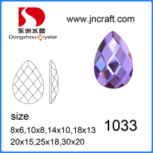 China Wholesale Lead Free Machine Cut Flat Back Drop Glass Stone for Garment Accessories