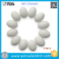 Set of 12 White Blank Unpainted Ceramic Easter Eggs DIY