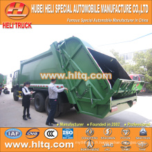 DONGFENG 6x4 16/20 m3 chargeur arrière lourd chariot à ordures moteur diesel 210hp avec mécanisme de pressage