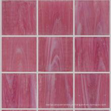 Mosaico de pedra de cristal de mosaico de cor rosa