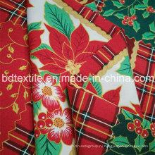 Горячий! ! ! ! Рождественские цветы полиэстер мини матовая ткань для скатерти
