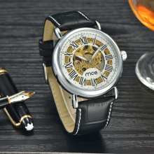 vintage stainless steel logo men's watch