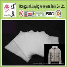 Aislamiento de relleno de fibra de poliéster para prendas de vestir