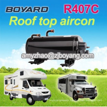 r407c horizontal a/c compressor for RV SUV Camping Car Caravan Roof Top Mounted Travelling truck ac