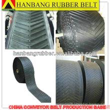 Chevron conveyor belt EP200/4PLY4+3