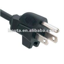 PSE plug Cable de alimentação de PVC